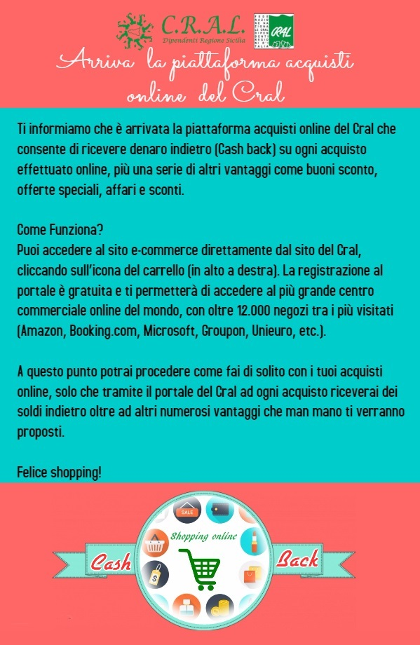 0e3a4016325a5 Arriva lo Shopping online per i Soci Cral